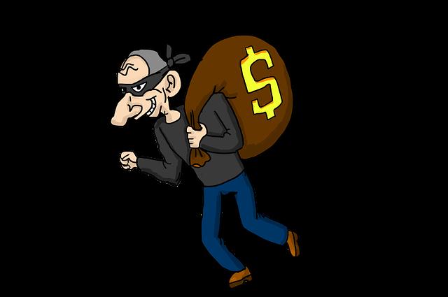 現金を得る泥棒