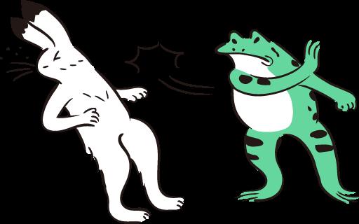 熱血指導で殴るカエルと殴られる兎