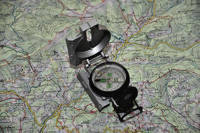 地図が読める コンパス方角