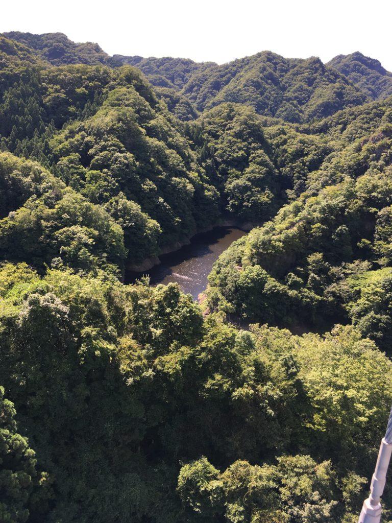 竜神大吊橋からの山の風景