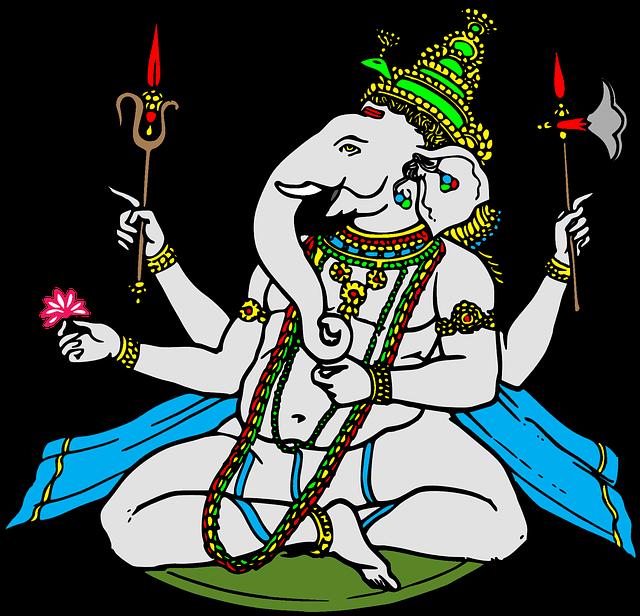 象の神様ガネーシャ