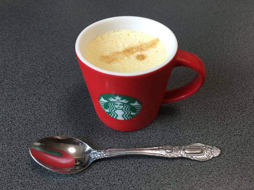 プリンエルをコーヒーカップで