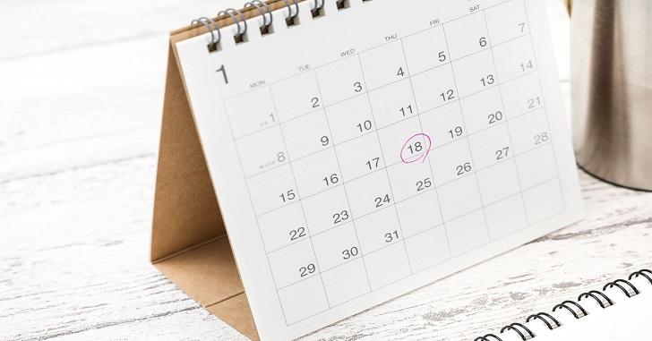 カレンダー 定期的なチェック
