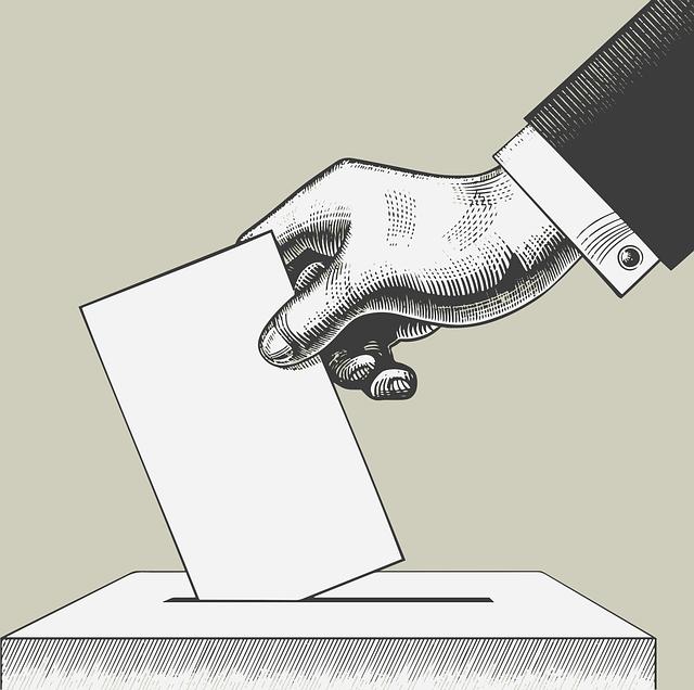 投票箱に投票