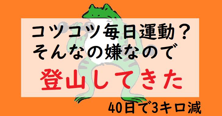 ダイエット登山 宝篋山