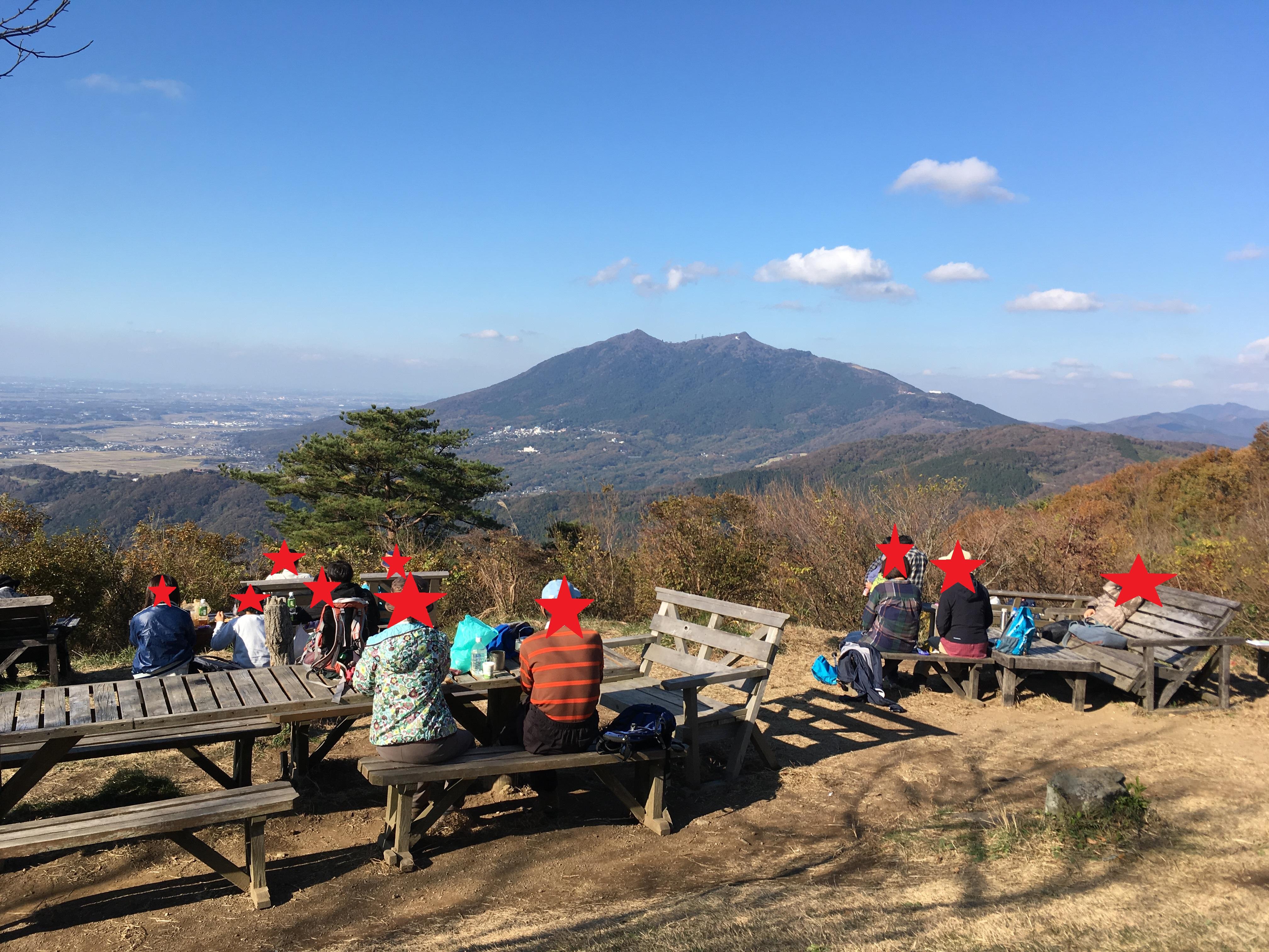 宝篋山山頂からの筑波山